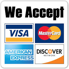 we accept all mayor credit card