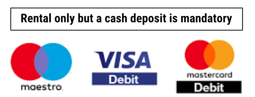 we accept all mayor debit card